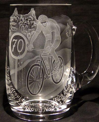 photo: Dárek bikerovi Zdeňkovi k sedmdesátinám