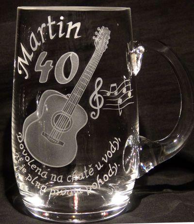 photo: Dárek k jubileu kytaristy Martina