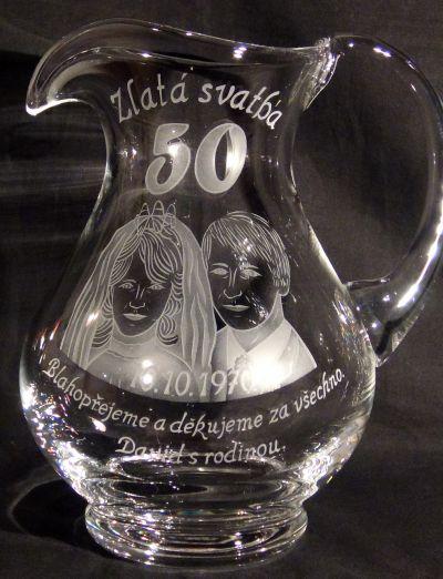 photo: Dárek k výročí - džbán s portréty
