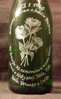 photo: 3 růže na šampaňském