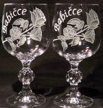 photo: Dárek babičce - sklenice s růžemi