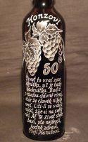 photo: Dárek - hrozny vína a slogan