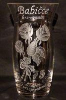 photo: Dárek k jubileu babičky - váza 1500 ml