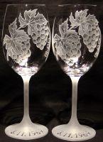 photo: Dárek k narozeninám - sklenice s hrozny