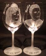 photo: Dárek k výročí - sklenice