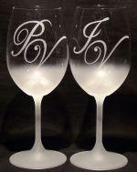 photo: Dárek k výročí - monogramy nad mlhou