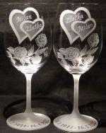 photo: Dárek k výročí - skleničky ke zlaté svatbě