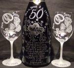 photo: Dárek k výročí svatby - SET - šampaňské a sklenice