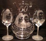 photo: Dárek ke zlaté svatbě - džbán a sklenice