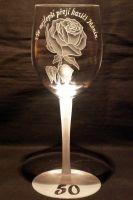 photo: Dárek s motivem jedné růže