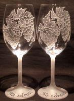 photo: Dárek - sklenice lara 250 ml s hrozny vína