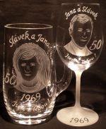 photo: Dárek Slávkovi a Janě k padesátému výročí