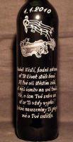 photo: Hudební motiv na lahvi