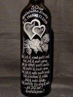 photo: Lahev s vínem pro Josefa a Lýdii