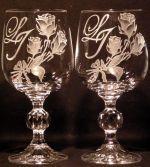 photo: Malebné monogramy na sklenicích Claudia