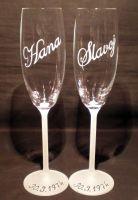 photo: Malebné písmo na sklenicích Forum