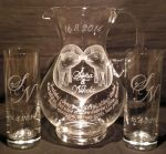 photo: Monogramy S a N na sklenicích
