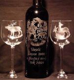 photo: Pro myslivce k vánocům lahev a 2 sklenice