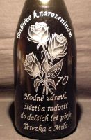 photo: Růže na šampaňském