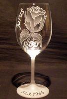photo: Růže na sklenici Lara