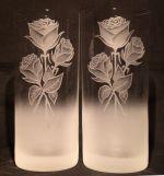 photo: Růže vycházející z mlhy na sklenicích 380 ml