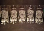 photo: Veliké růže na sklenicích