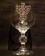 photo: Židovský svícen na sklenici Claudia